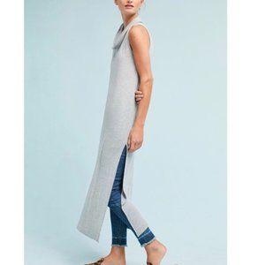 Anthro t.la Gray Sleeveless Cowl Neck Tunic Dress